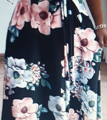 Nova cvjetna maxi haljina kratkih rukava vel. L