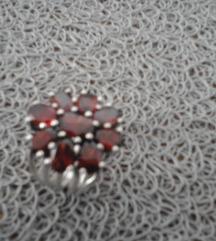 Prsten srebro/granat