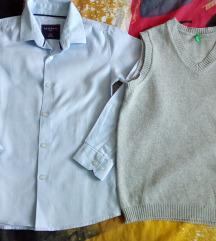 Lot: Reserved košuljica+Benetton prsluk