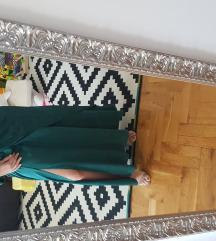 Self portrait smaragdna midi haljina