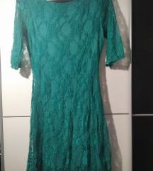 Zelena čipkasta haljina