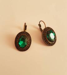 Smaragdno zelene naušnice