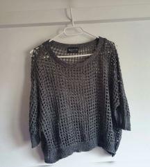 Laura Scott srebrni pulover, kao novi