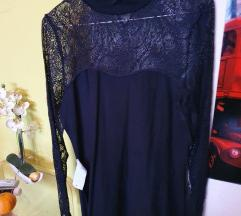 crna čipkasta esc haljina