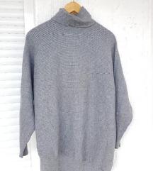 MOHITO siva oversized dolčevita / pulover