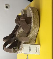 REZERVIRANO Nove Mango sandale koža 36