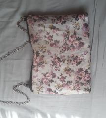 Cvjetna kožna torbica