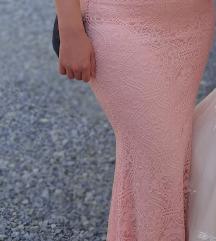 Roza duga haljina