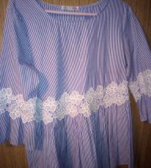 Bluza od popelina broderie like Zara