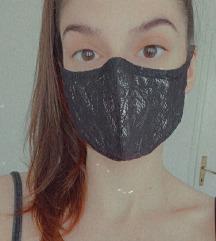 💎 Luksuzna čipkasta maska od šantung svile 🎭