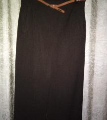 Suknja Max Mara tamno smeda Original