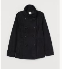 Kratki crni kaput h&m