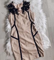 TWISTER uska haljina sa čipkom