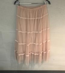 IMPERIAL til roza midi suknja nikad nošena