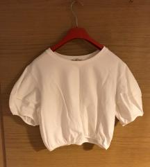 bijela majica, puff rukavi