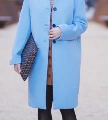 Novi H&M kaput od vune baby blue vel.40