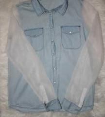 Traper košulja s prozirnim rukavima