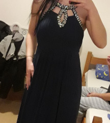 Tamnoplava svecana haljina