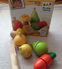 set drvenog voća i povrća