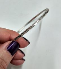Rez! Vintage obruc narukvica, srebro 925