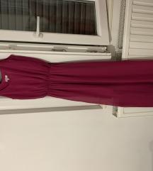 Duga pink haljina