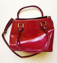 Pittarosso crvena lakirana torba