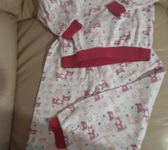Topla pamučna pidžama 122/128