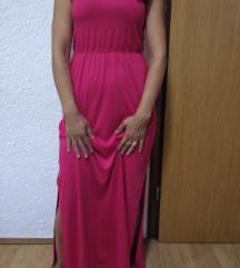 Novo!Roza maxi haljina 36-38