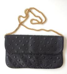MANGO crna kožna torbica