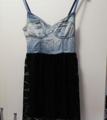 Ljetna traper/čipka haljina