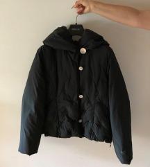 Crna pernata jakna s vezenim cvijećem, M