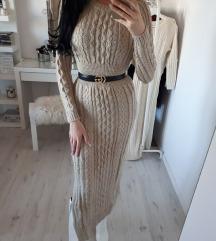 Haljina duga pletena