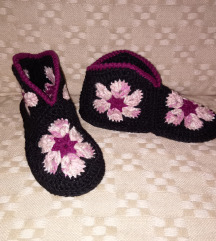 Pletene papuce nove