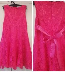 Pinki čipkasta haljinica