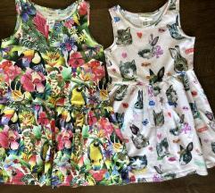 Lot 2 haljinice H&M special edition 4-6 god