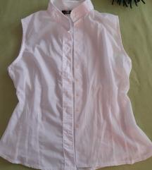 Bijela košulja bez rukava strukirana