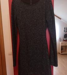 Crna, sljokicasta haljina