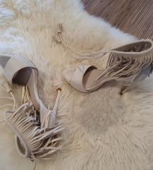 Kožne sive sandale Zara