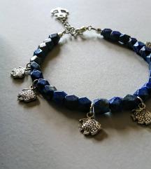 Handmade narukvica s lapis lazulijem - snižena 20%