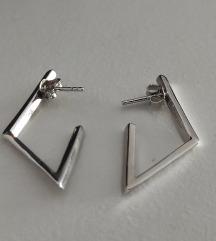Lencia naušnice pravo srebro