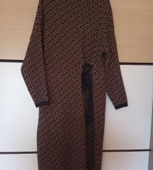 Crno smeđa pletena haljina