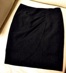 asimetrična Naf Naf suknja - diskretne šljokice