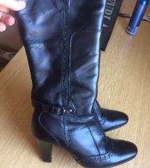Crne kožne čizme 37