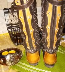 Kožne čizme jahačke