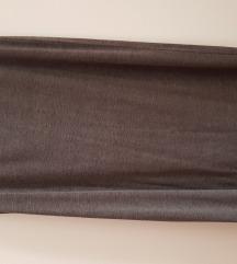 Siva maksi casual suknja M