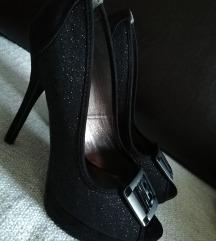 Svjetlucave peep toe cipele Laura Biagiotti