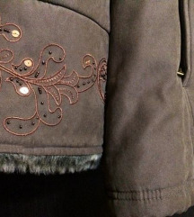 Marks & Spencer ženska smeđa zimska jakna