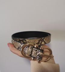 Remen + torbica zmijski uzorak