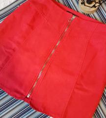 Crvena suknja s patentom (SVE PO 20 i 30 HRK)