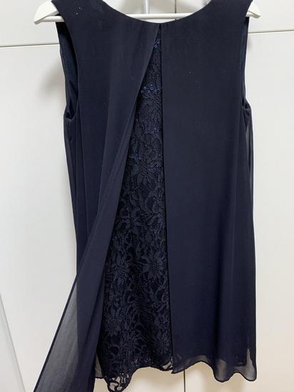 Tamno plava svecana haljina
